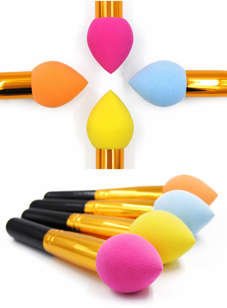2018 Custom Logo Beauty Sponges Brush Foundation Make Up Sponge Brushes Makeup Powder Puff Brushes