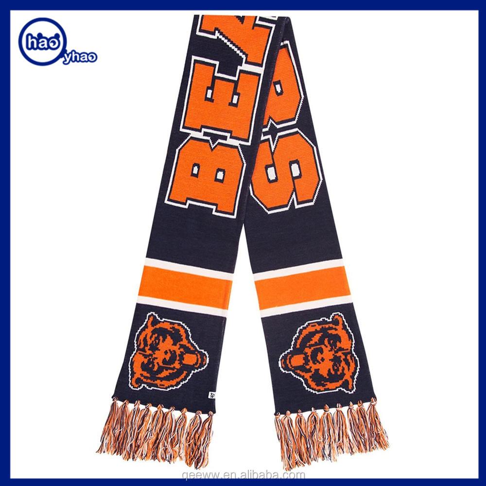 yh factory custom design style football scarf fan