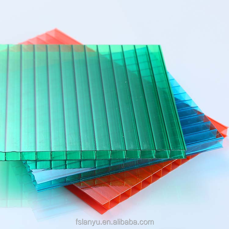 colored lexan opaque 3mm twin wall polycarbonate sheet