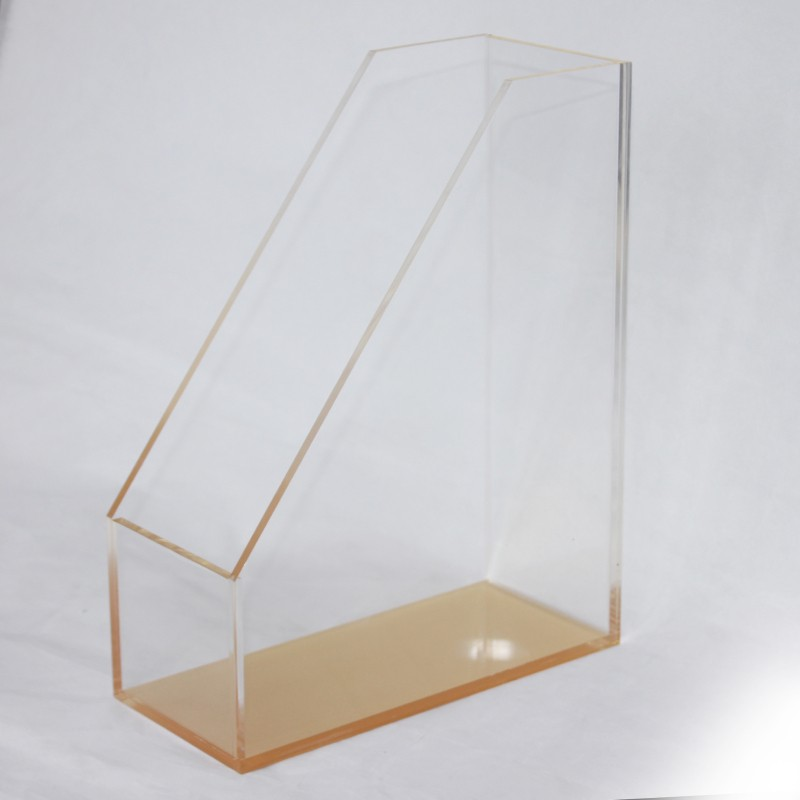 New Design Acrylic Desktop File Holder Plastic Brochure Holder Tabletop File Holder Acrylic Pen Display Holder Case Wholesale