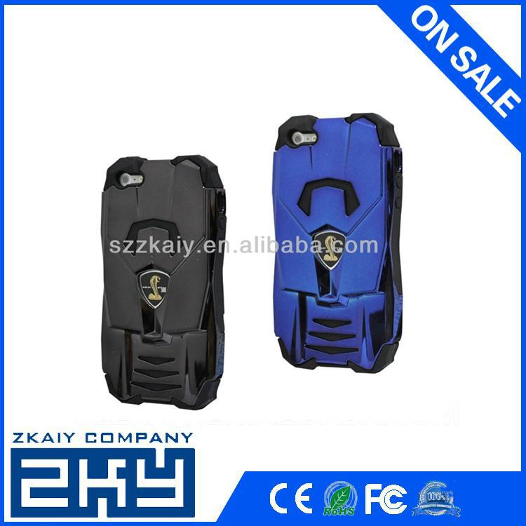 Good quality car shape 3d silicone mobile phone case for iphone 4