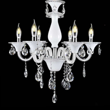 zhongshan crystal glass LED indoor chandelier ceiling lighting hotel lamp 6 arms lights