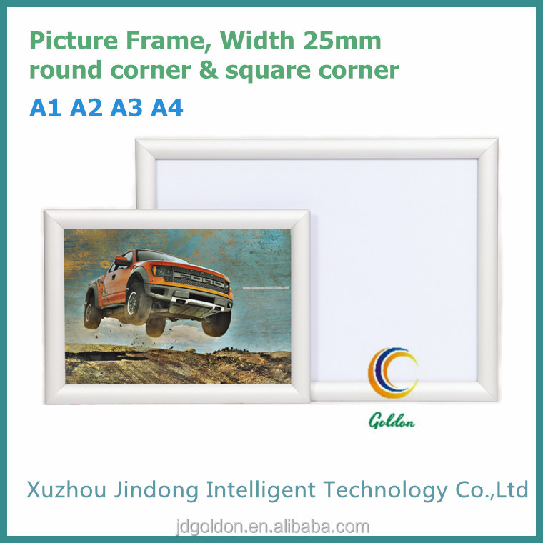 A1,A2,A3,A4 Size Snap Poster Frame 25mm Round/square Corner Aluminum ...
