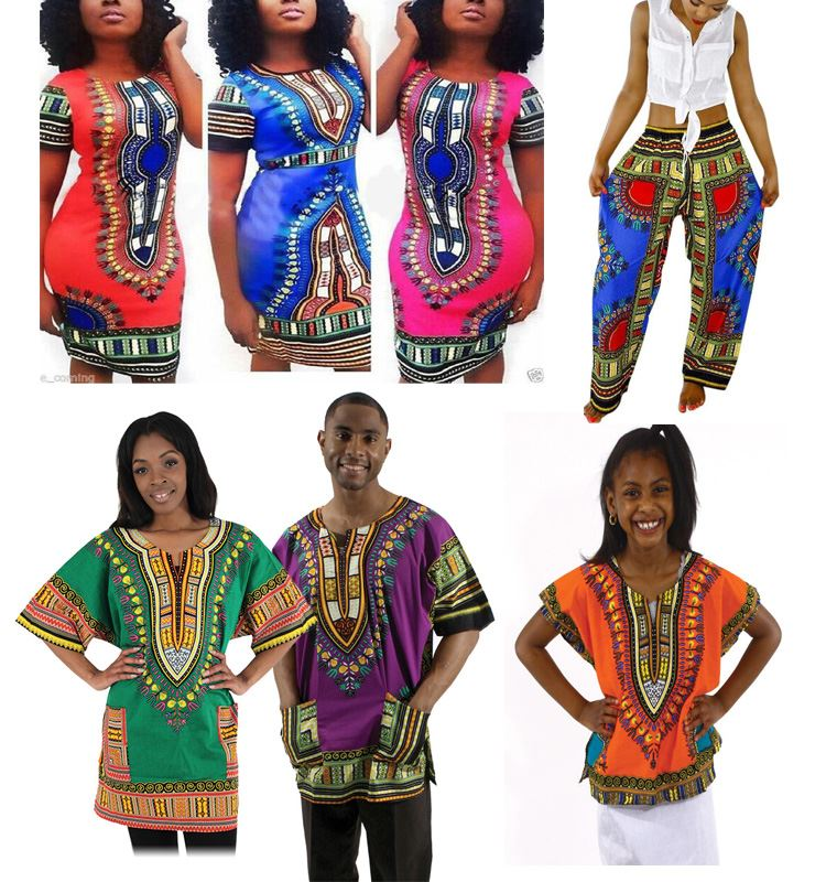 onen Wholesale Traditional African Print Clothing Dashiki Dress and Shirt