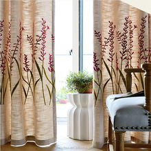 Classical Design poly flax Embroidery Jacquard Moroccan Embroidery Design Curtain