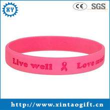 2013 Promotional gifts pink silicone wristbands