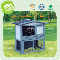 large run 2 storey build with tray wooden outdoor rabbit hutch,beauty rabbit hutch,beautiful rabbit cage
