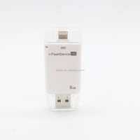 High Speed 8GB i - Flash Drive HD USB2.0 Flash Memory U Disk for iPhone iPad Desktop Laptop 8GB WHITE