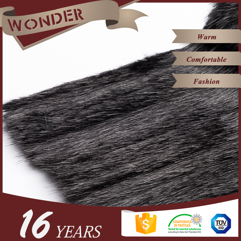 Twill Construction Wholesale Stores Houston Grey Faux Fur Fabric