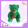 soft green bear,stuffed toy bear