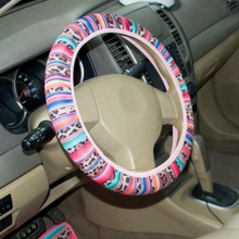 Wholesale 2018 Hot Sale Stripe Print Leopard Steering Wheel Cover