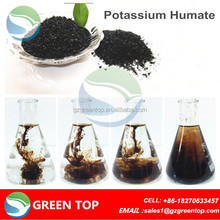 Organic foliar fertilizer humic and fulvic minerals in agriculture