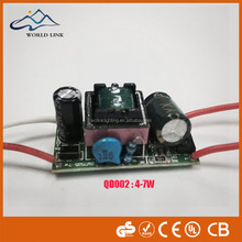 4-7W led driver with IC,for cob panel bulb