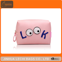 Pu leather lady pouch portable handbag cosmetic bag