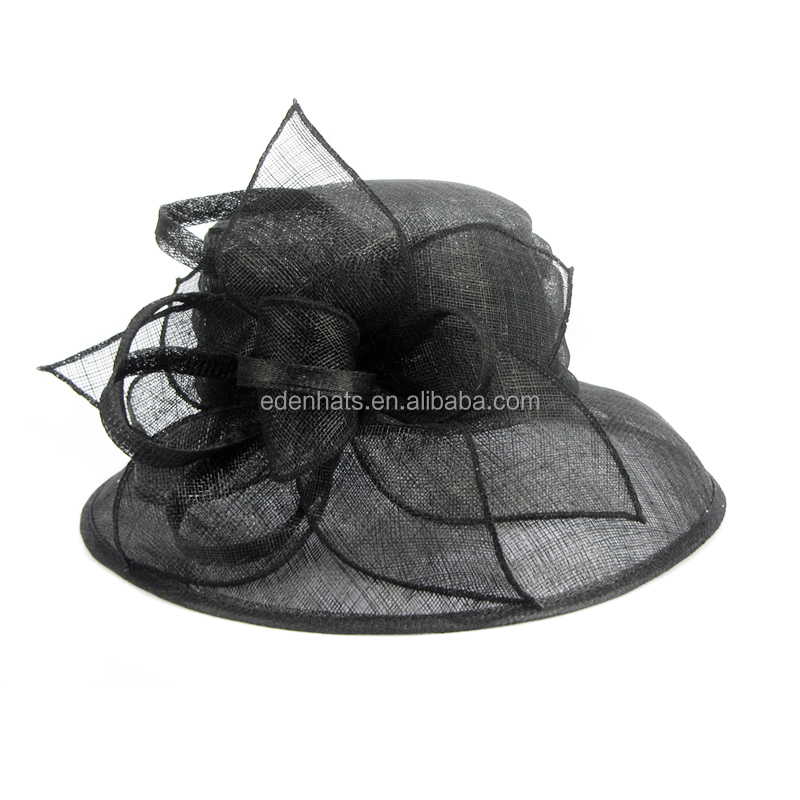 Sinamay Wedding Church Downton Abbey Feather Dress Hat