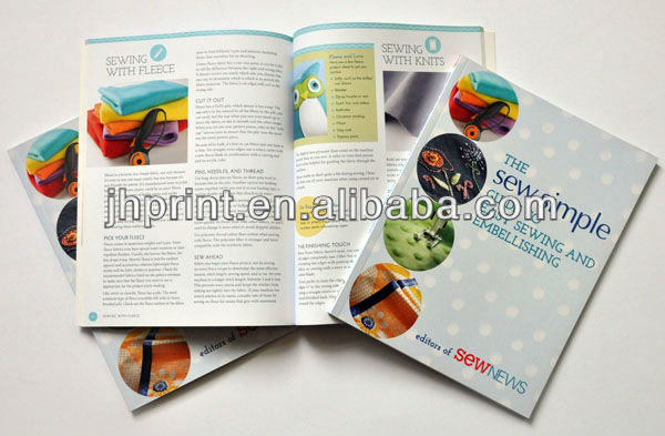 with book saddle stitching and folding machine printing