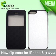 Popular Sublimation Cover for iPhone 6 ( 4.7 inches ) flip case with PU + Hard plastic material