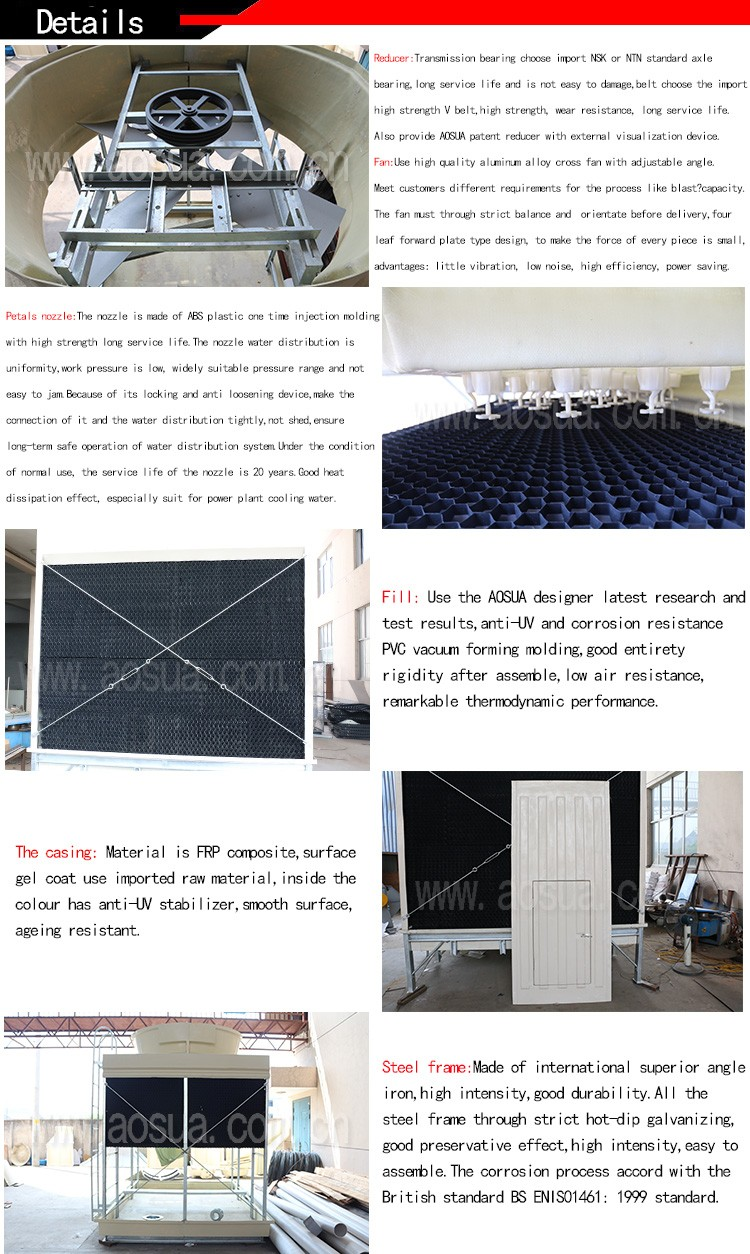 125T Water Cooling Tower For Chemical Industry Water Cooling