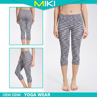 Nylon and spandex fabric for young ladies do yoga tight yoga pants mature women wear
