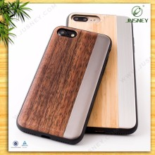 Hot sale For Iphone 7 Case Wood,For Iphone 7 Case Back Cover TPU metal