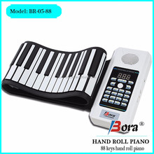 Electronic piano has usb function 88 keys roll up piano