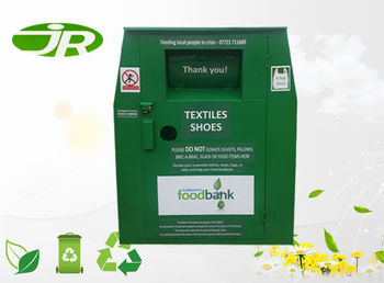 hot sales outdoor steel clothes collection bin clothes drop off Bins