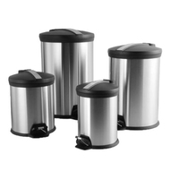 bedroom bathroom stainless steel pedal waste bin