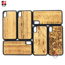 Bamboo Walnut Wood Case for iPhone X For iPhone 8 Full Smart Cell Mobile Hard Cover Soft TPU Best Screen Protect Housing
