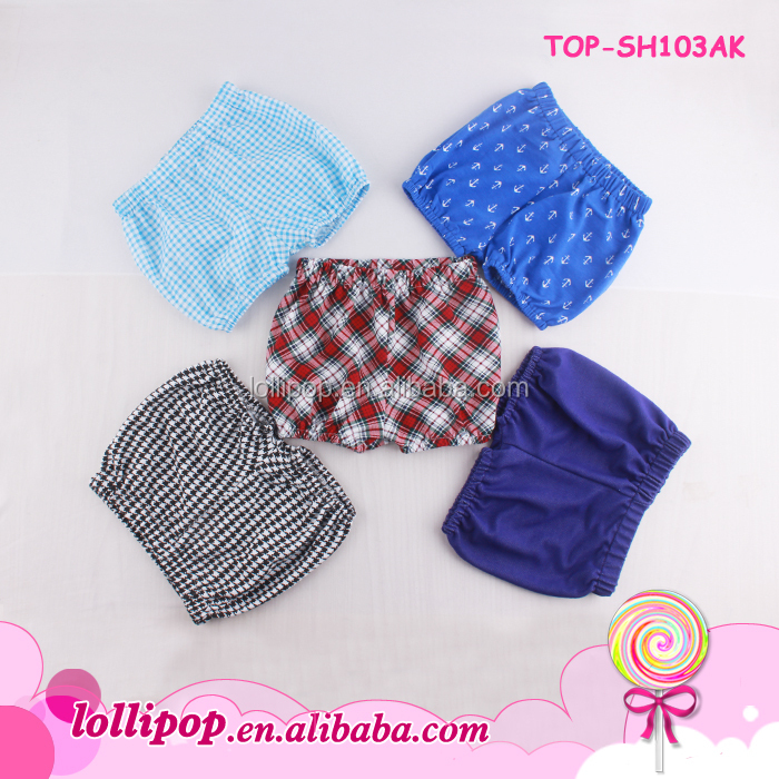 Latest designs baby haren beach pants elastic waistband infant seersucker shorts summer seersucker shorts wholesale boys