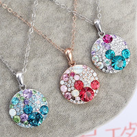Fashion glitter gold plated chain necklace Wholesale10596