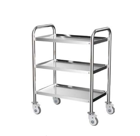 DW-CRC03 Stainless steel emergency trolley cart for hospital Medical Cart With Wheels and drawer