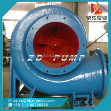 high flow lake drainage mixed flow pump