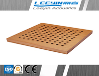 acoustic soundproof wood perforated panels for interior wall decoration