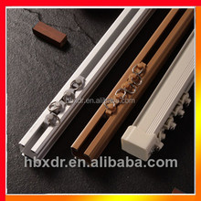 White Anodized bending kinds of aluminium curtain track