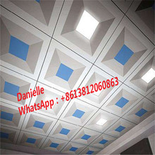 Hot new products selling punch panel 600*600 metal aluminum ceiling boards prices acoustic ceiling perforated panel