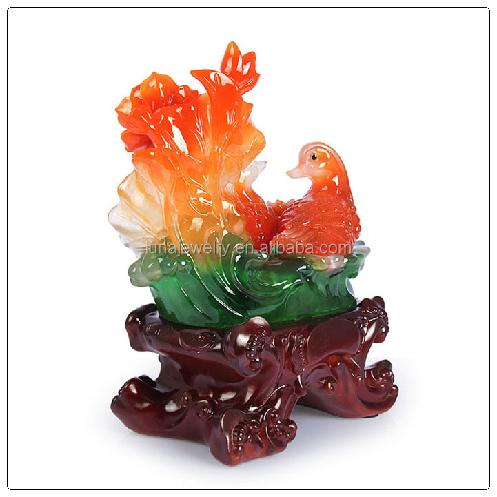 Resin material mandarin duck ,New FengShui Statue ,resin Animal