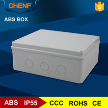 ABS material plastic gray outdoor tv cable junction box