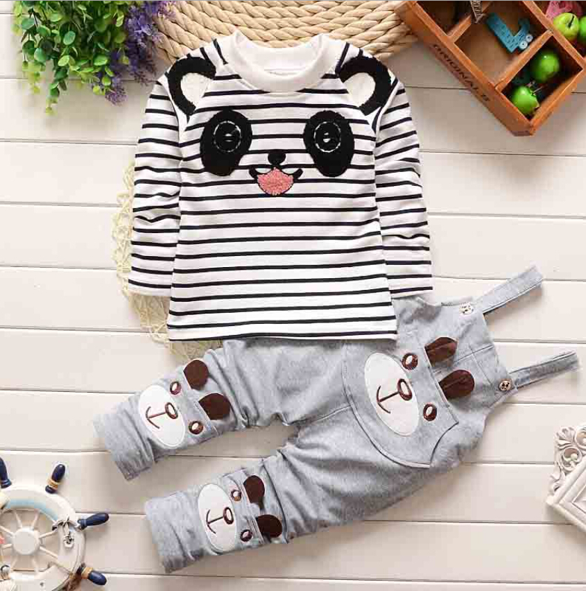 2016 cute baby boy autumn clothes sets kids clothing