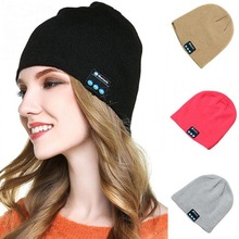 Blu Beanie Hat Wireless Washable Knit Cap Winter Hats With Built in Stereo Speakers Headphones Earphones