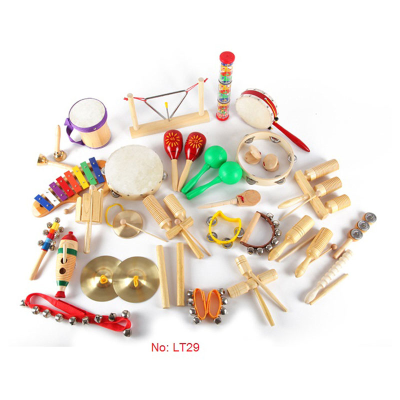 Kids Intelligent Educational Toy Baby Gift Lovely Cute Musical Instrument Percussion set