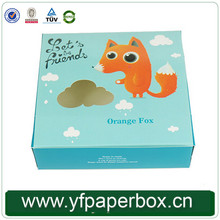Customized food grade paper cup cake box with handle