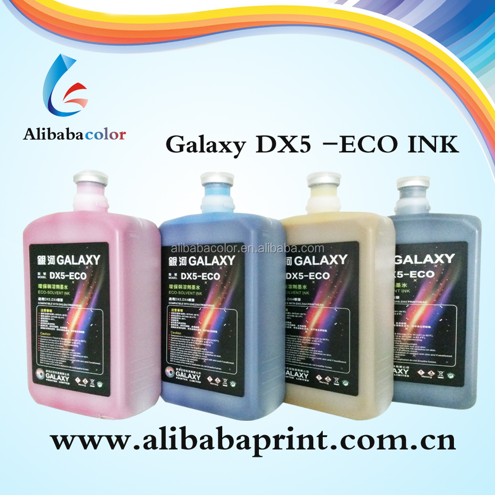 Galaxy eco solvent jet best ink for DX5 head inkjet printer