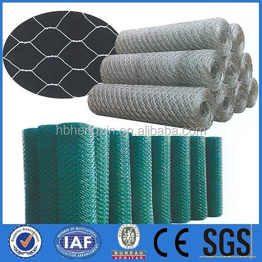 Hengxin galvanized hexagonal wire mesh/ rabbit wire / PVC coated chicken fence