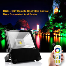 wireless outdoor remote rgb led flood light high power 35w RGBW color change led flood light IP65 outdoor led flood light