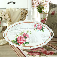 15 Inches Elegant Fine Oval ceramic tray