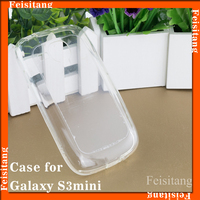 Waterproof case for Samsung galaxy s3mini i8190 Transparent TPU mobile phone case cover