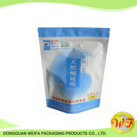 Plastik stand up pouches with zipper liquid container for spices