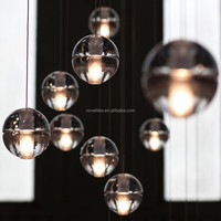 Crystal ball chandelier light Modern LED Pendant lighting Customizable Modern Ball Ceiling light