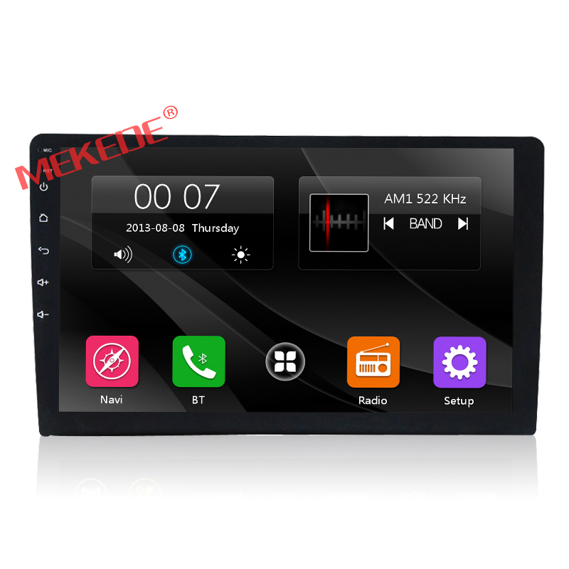MEKEDE Capacitive screen 9inch one din Universal car gps navigator radio ipod media bt 3G