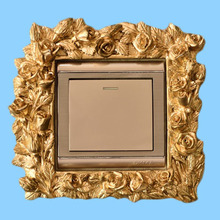 European modern resin Creative Fancy Gold Switch Sticker